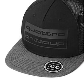 Audi Cap zwart, quattro