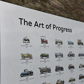 Audi Historieposter aluminium