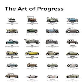 Audi Historieposter, 80 x 120 cm