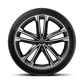 Audi 22 inch lichtmetalen zomerset, 5-arms Volsella-design
