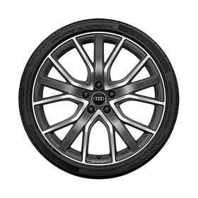 Audi 20 inch lichtmetalen zomerset, 5-V-spaaks sterdesign
