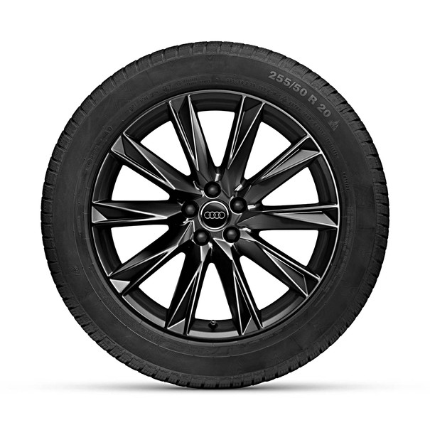 Audi 20 inch lichtmetalen winterset, 10-Spaak-Lamina-Design, zwart