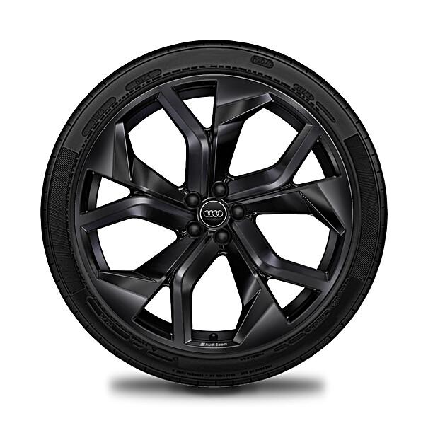 Audi 23 inch lichtmetalen winterset 5 Y-spaak zwart RSQ8