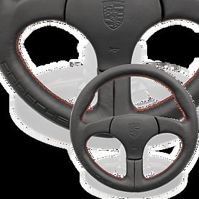 Sportstuur zonder airbag zwart sierstiksels Guards Red - Porsche 911 en 959