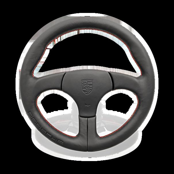 Sportstuur zonder airbag zwart sierstiksels Guards Red - Porsche 928