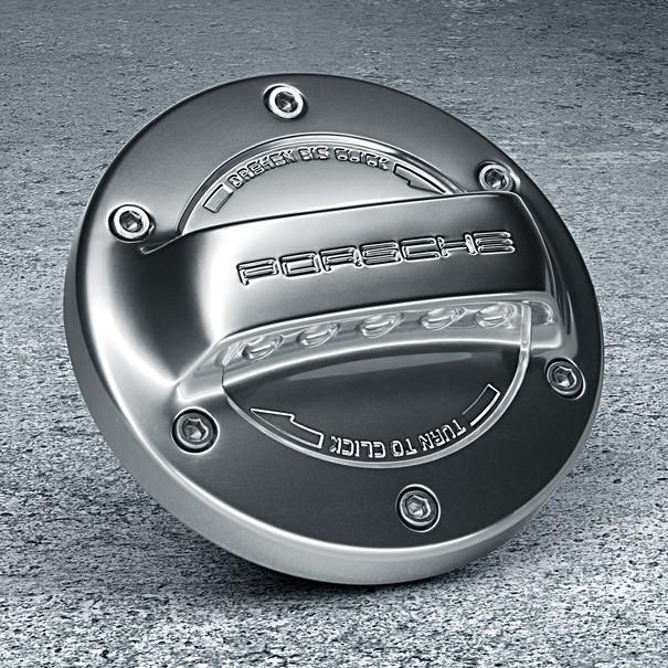 Porsche tankdop - aluminium look