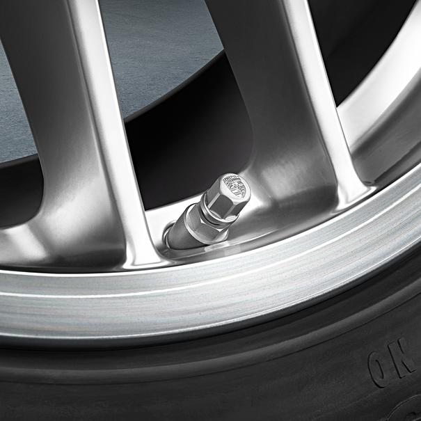 Sier ventieldopjes met Porsche embleem - zonder RDK