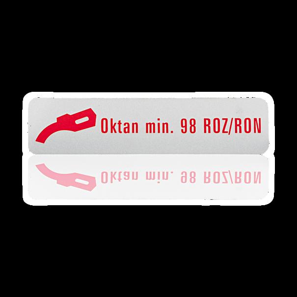 Sticker 'superbenzine 98 RON' - Porsche 911, 914, 924, 928 en 944/2