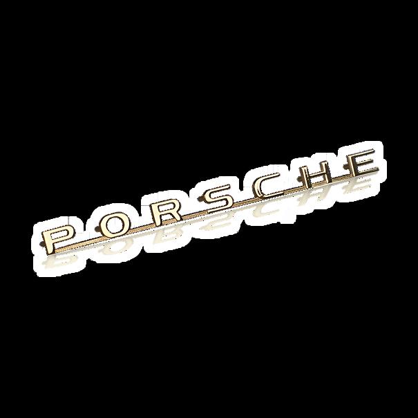 Belettering 'Porsche' goudkleurig - Porsche 356 A