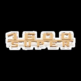 "Belettering ""1600 Super"" goud - Porsche 356 1600 Super"