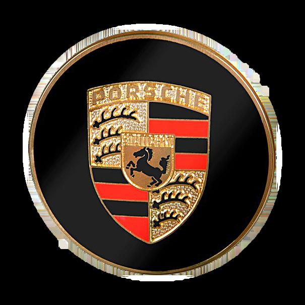 Naafdop met gekleurd wapen in reliëf voor Porsche 356, 911 en 914