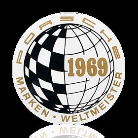 Porsche Auto raamsticker - Marken-Weltmeister 1969