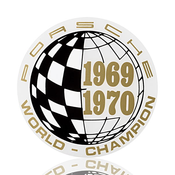 Porsche Auto raamsticker - Marken-Weltmeister 1969-1970