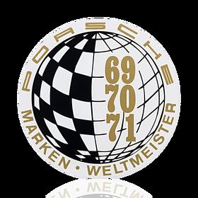 Porsche Auto raamsticker - Marken-Weltmeister 69-70-71