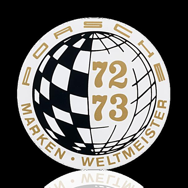 Porsche Auto raamsticker - Marken-Weltmeister 72-73
