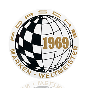 Porsche Auto raamsticker - World Champion 1969