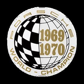 Porsche Auto raamsticker - World Champion 69-70