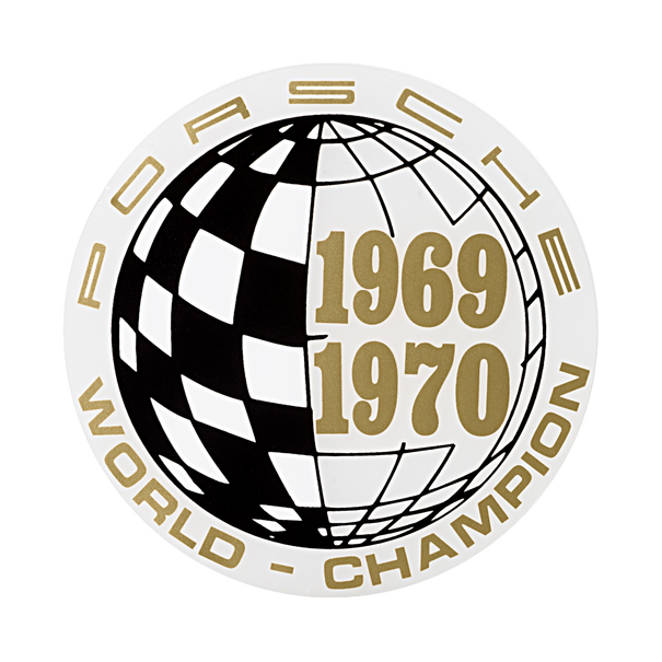 Porsche Auto raamsticker - World Champion 69-70