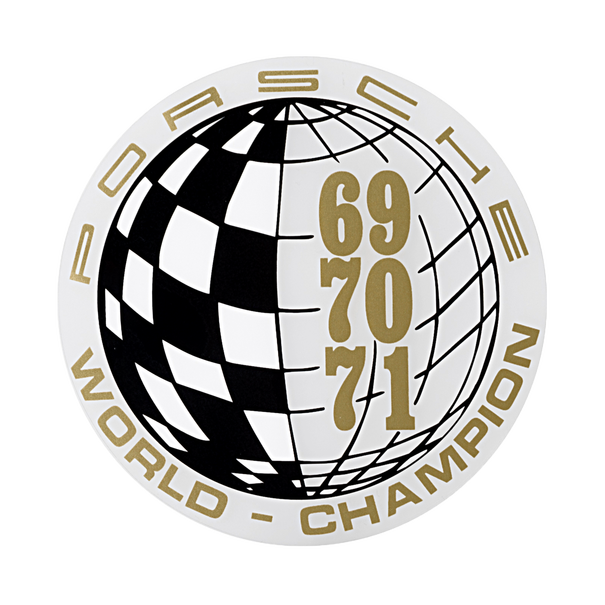 Porsche Auto raamsticker - World Champion 69-70-71