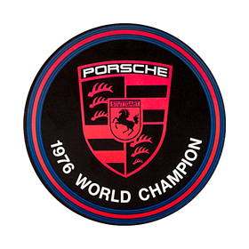 Porsche Auto raamsticker - World Champion 1976