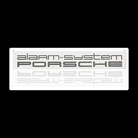 Sticker 'alarmsysteem' - Porsche 911, 928, 944/2, 959, 968, 964 en 993