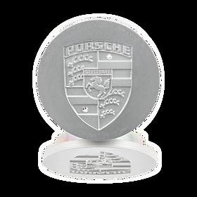 Naafdop zilver metallic - Porsche 924 S, 928, 944/2 en 964