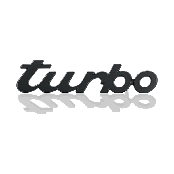 Belettering 'turbo' - Porsche 911 Turbo
