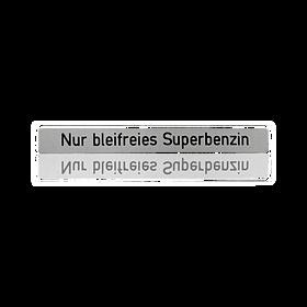 Sticker 'superbenzine loodvrij' - Porsche 911, 924 S en 944