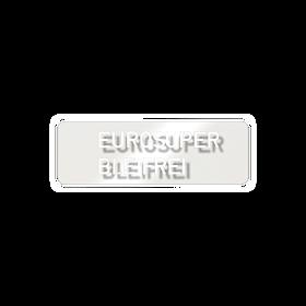 Sticker 'eurosuper loodvrij' - Porsche 911 - 928 - 944/2 en 964