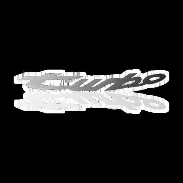 """Opschrift """"turbo"""" in zwart voor het voorspatbord - Porsche 944 Turbo"""