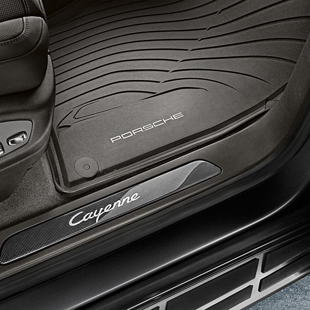 Porsche All-weather vloermattenset zwart, 4-delig voor Cayenne (E2)