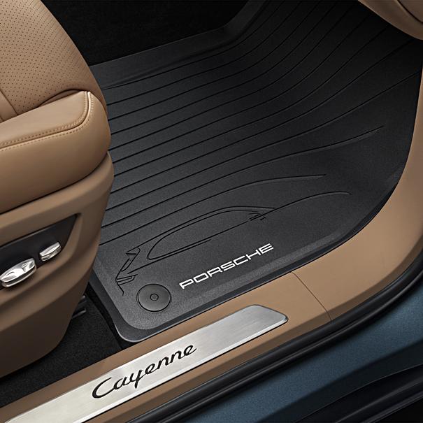 Porsche Allweather rubberen vloermattenset 4-delig voor Cayenne (met 4-zone airco)