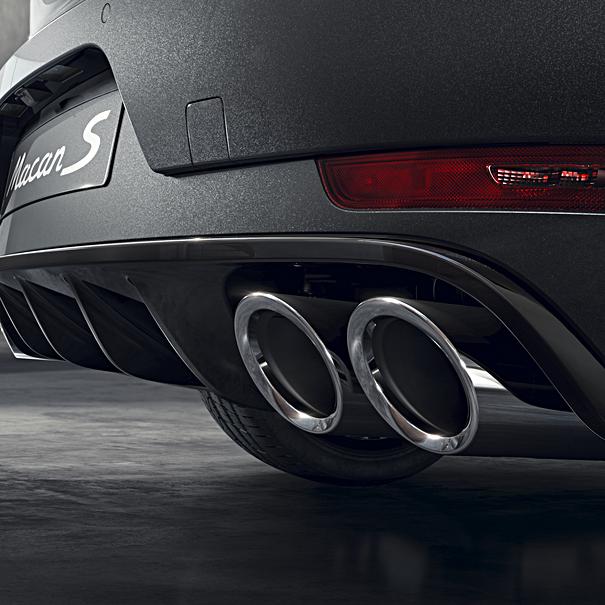Porsche Sporteindpijpen zilver, Macan S