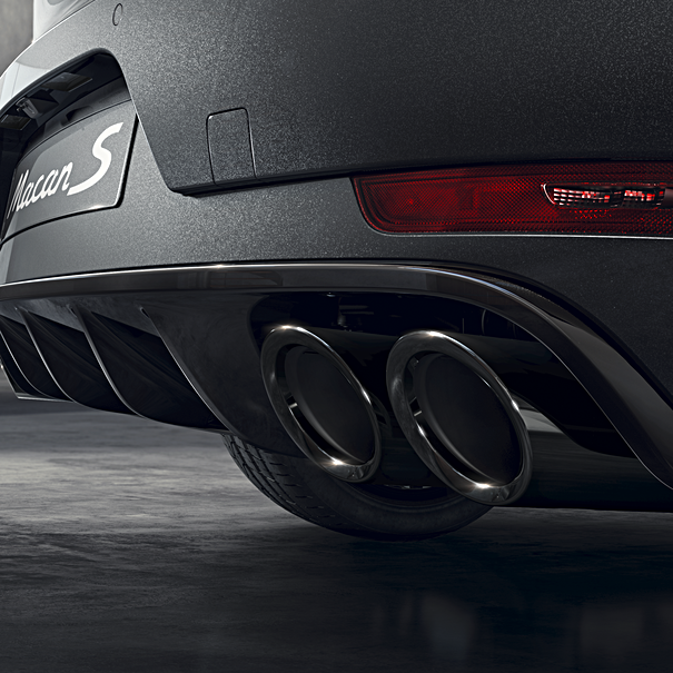 Porsche Sporteindpijpen zwart, Macan S