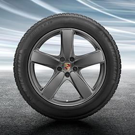 Porsche 19 inch Platinum Macan SportClassic complete winterset voor Macan