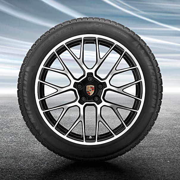 Porsche 20 inch RS Spyder complete winterset voor Macan