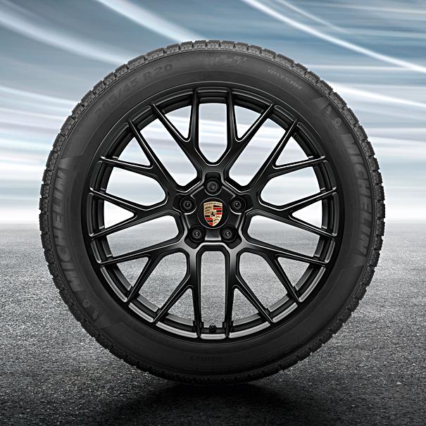 Porsche 20 inch zwart RS Spyder complete winterset voor Macan