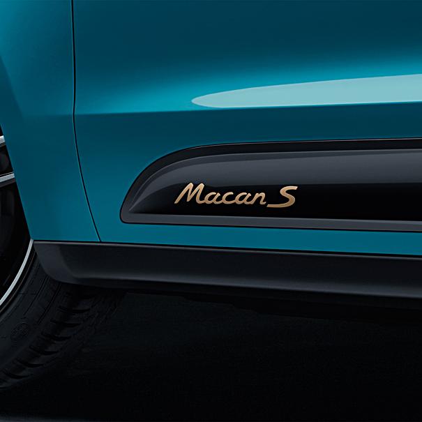 Porsche Modelaanduiding op sideblades 'Macan GTS'