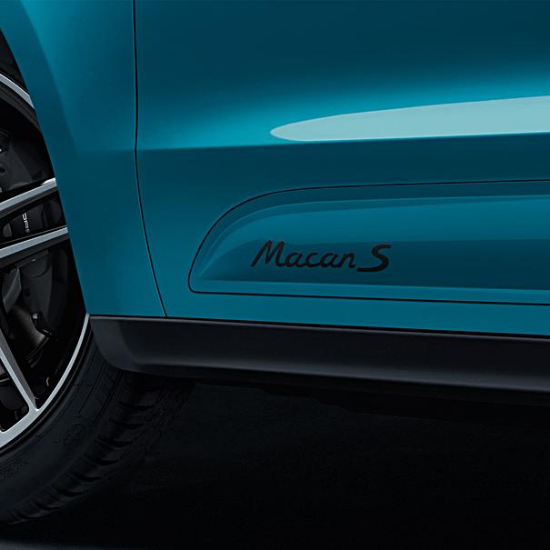Porsche Modelaanduiding op sideblades