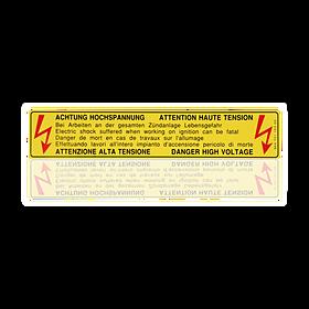 Sticker 'hoogspanning' - Porsche 928 en 993