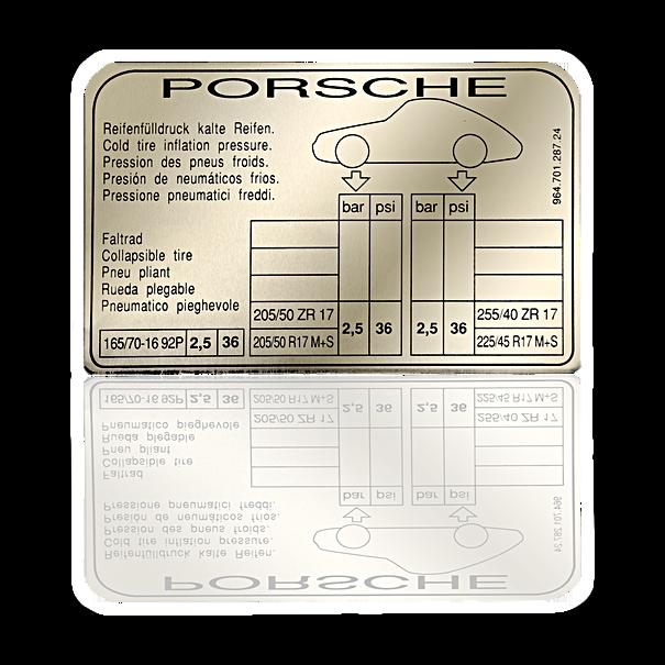Sticker 'bandenspanning' - Porsche 964 Turbo-Look