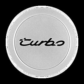 """Naafdop """"Turbo"""", zilver metallic - Porsche 964 Turbo"""