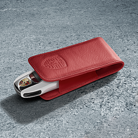 Porsche Sleuteletui leder Carrera rood