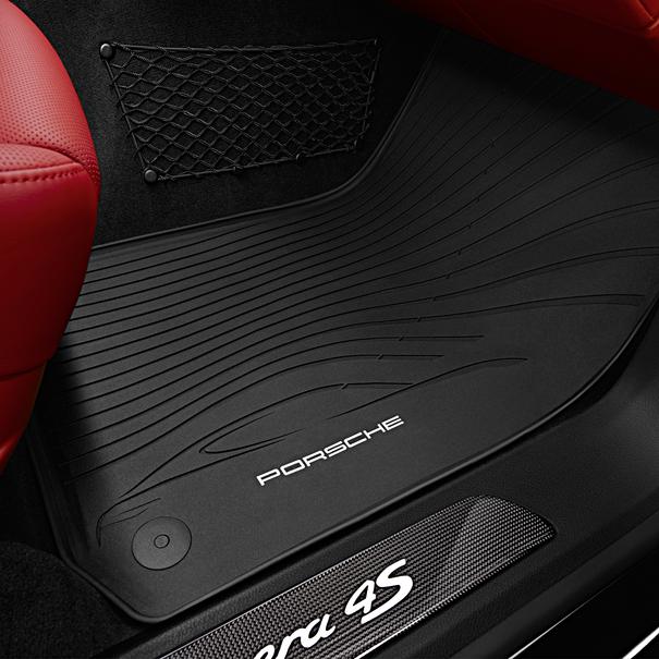 Porsche All-weather vloermattenset zwart voor Panamera (G1), 4-delig