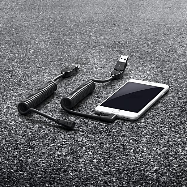 Porsche USB smartphone laadkabel met micro USB