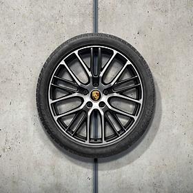Porsche 21 inch Panamera Exclusive Design Sport Zwart complete winterset voor Panamera (G2)