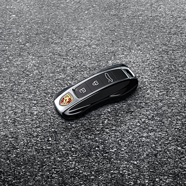 Porsche Autosleutel gespoten-Zwart