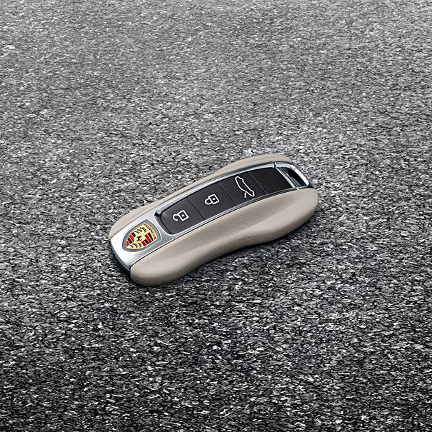 Porsche Autosleutel leder-Krijt