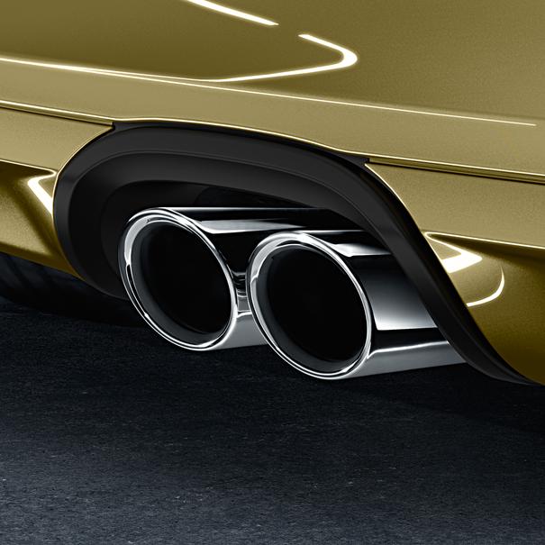 Porsche Sporteindpijpen voor Cayman 981 zilver