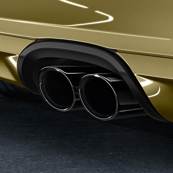 Porsche Sporteindpijpen voor Cayman 981 zwart